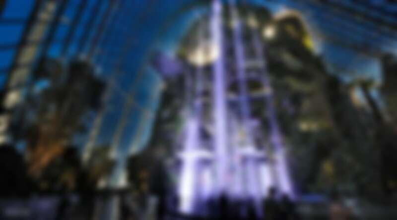 「濱海灣花園」室內瀑布