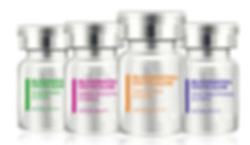 課程中使用到東森自然美獨家研發的抗老、嫩白、控油、舒敏四種客製化精華液。