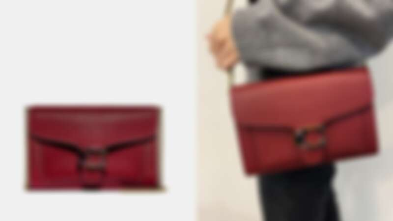 Coach深紅色Tabby鏈條手拿包,NT13,800