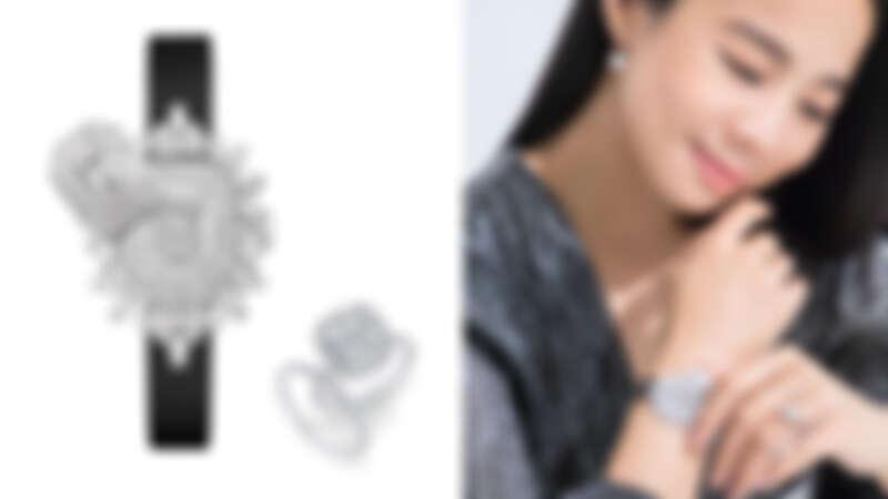 海瑞溫斯頓 The One系列 枕形切工鑽石戒指、海瑞溫斯頓 鑽石線戒、海瑞溫斯頓枕型切工極細微密釘鑲嵌鑽石耳環、海瑞溫斯頓Ultimate Emerald Signature珠寶時計