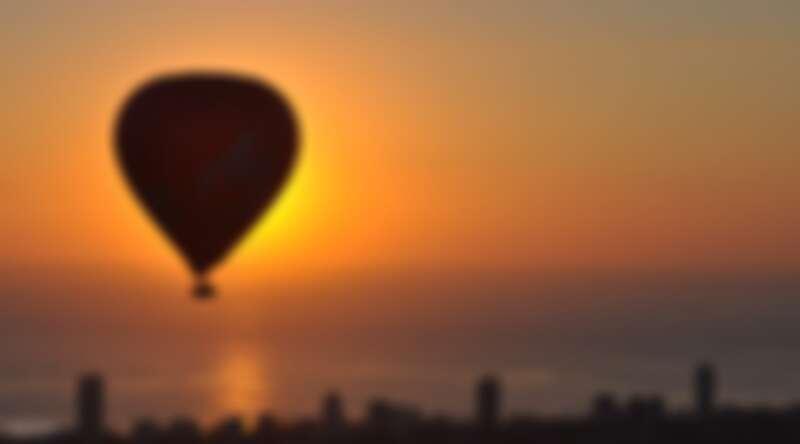 澳洲黃金海岸搭乘熱氣球在空中欣賞日出