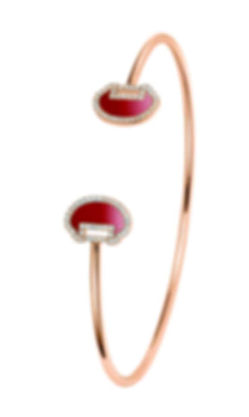 Qeelin_Yu Yi 18K玫瑰金鑽石及紅瑪瑙手鐲,NT84,000