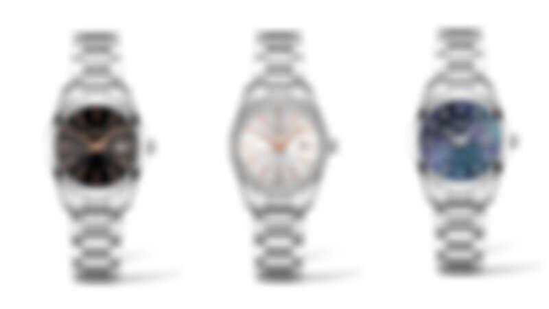 左起:Longines 浪琴表 Conquest Classic 征服者經典系列黑色面盤女仕腕錶,NT29,400;銀面鑽圈女仕腕錶,NT74,300;黑色珍珠母貝面盤女仕腕錶,NT$43,200
