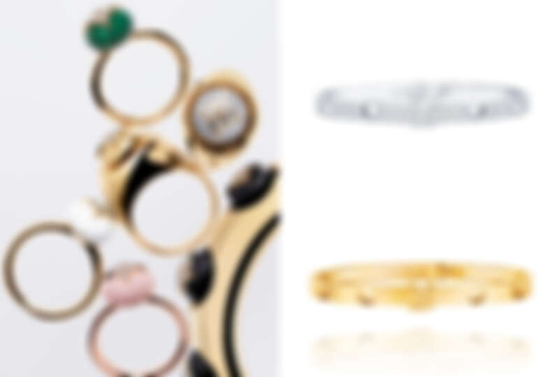 B Blossom Collection系列戒指、Bangle Empreinte white gold paved,NT865,000、 Bangle Empreinte yellow gold,NT192,000