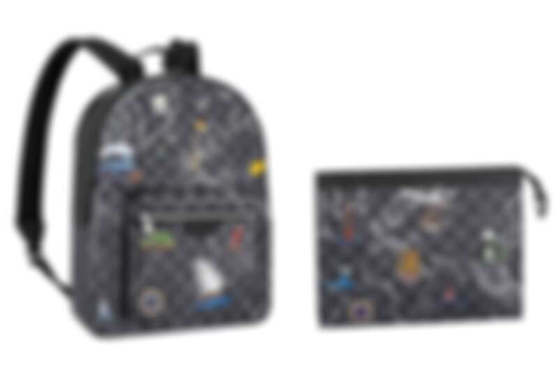 JOSH DAMIER GRAPHITE MAP手袋,NT70,000、POCHETTE VOYAGE DAMIER GRAPHITE MAP手袋,NT33,800