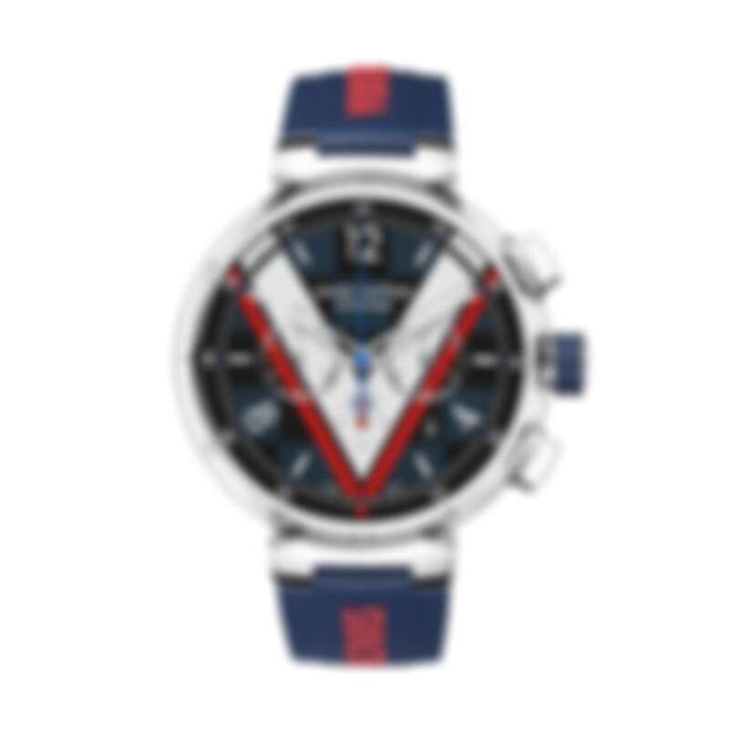Watch Tambour Damier Cobalt Chronograph,NT209,000 (不含錶帶)