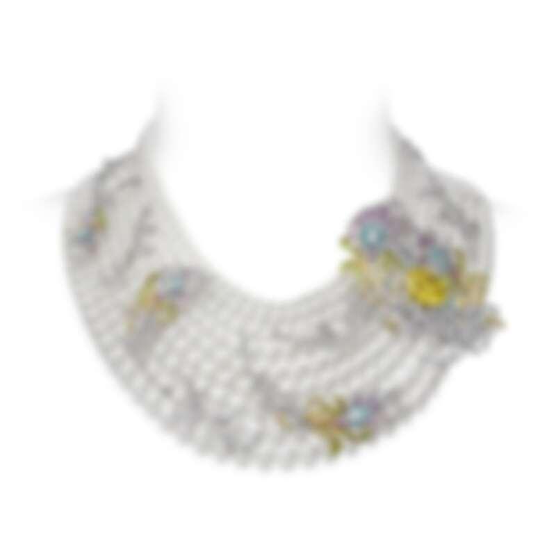 MIKIMOTO 頂級珠寶系列-令和 Reiwa 鳳凰羽毛造型項鍊,參考價格NT14,800,000