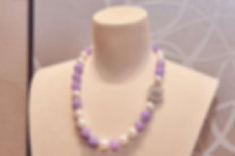 MIKIMOTO 頂級珠寶系列–紫羅蘭翡翠南洋珍珠項鍊,參考價格NT$57,500,000
