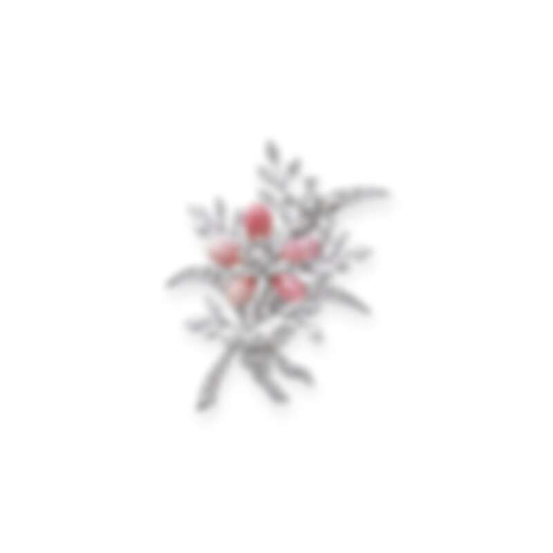 MIKIMOTO 頂級珠寶系列-花束造型孔克珍珠胸針,參考價格NT2,220,000