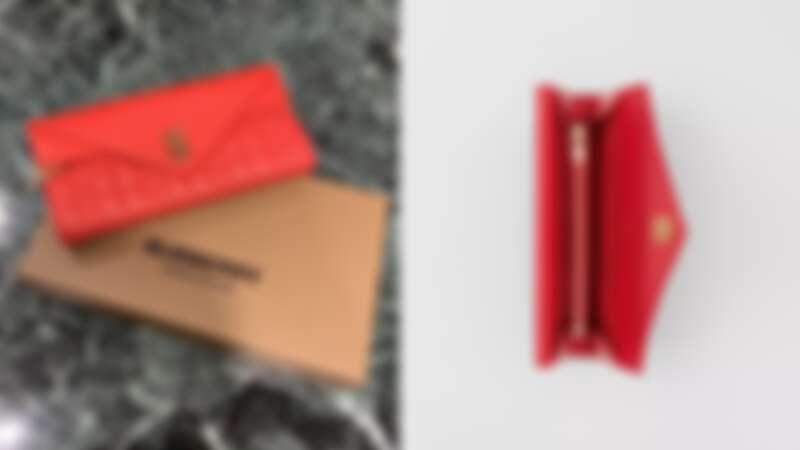 BURBERRY花押字圖案絎縫長夾,NT23,500BURBERRY花押字圖案絎縫長夾,NT23,500