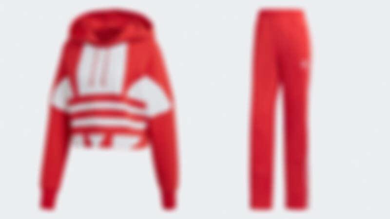 adicolor系列女生連帽上衣,NT3,090、adicolor系列女生運動長褲,NT2,490