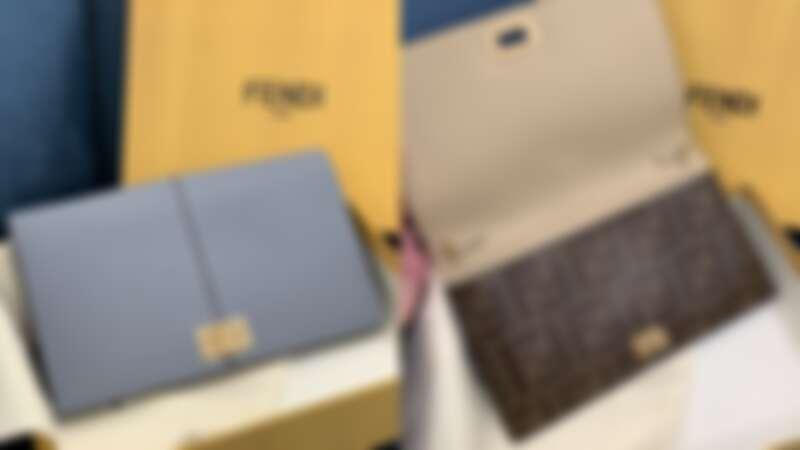 FENDI 水藍色皮夾,NT30,500