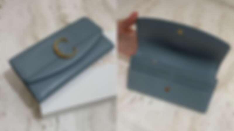Chloé ''Chloé C'' 霧藍色長夾,NT17,000