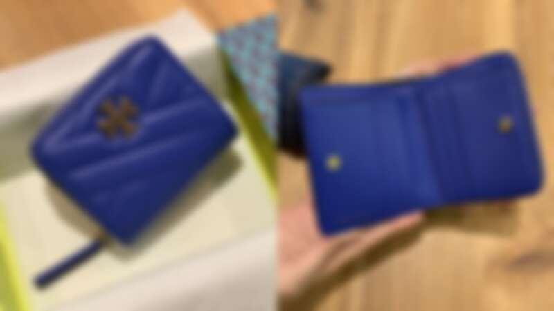 TORY BURCH海軍藍Kira 縫線短夾,NT7,890