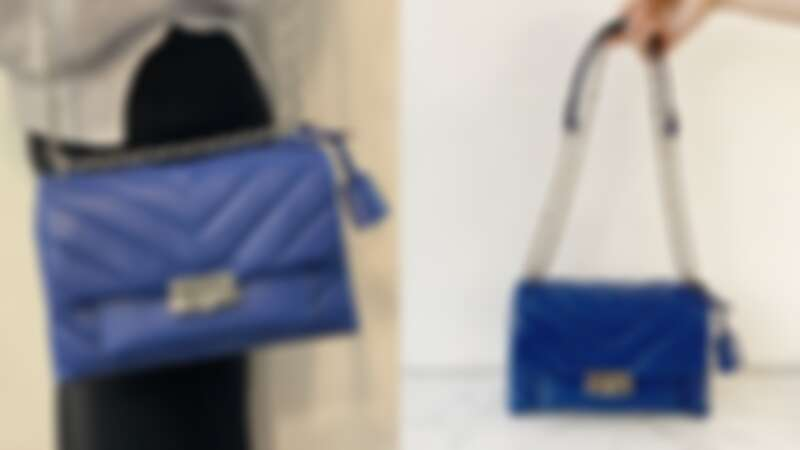 Michael Kors CECE 藍色鍊帶包,NT19,400