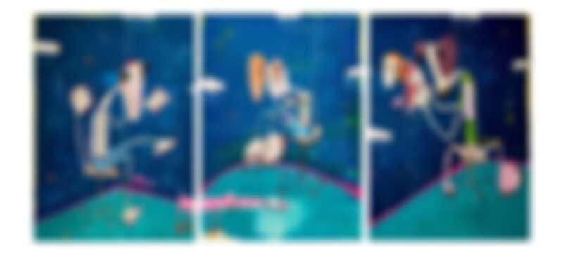 拉法.馬卡龍Rafa Macarron TripticoMixed Media53x43cm2019
