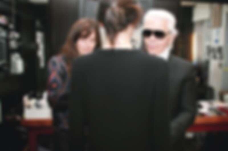 維吉妮·維婭與卡爾·拉格斐。