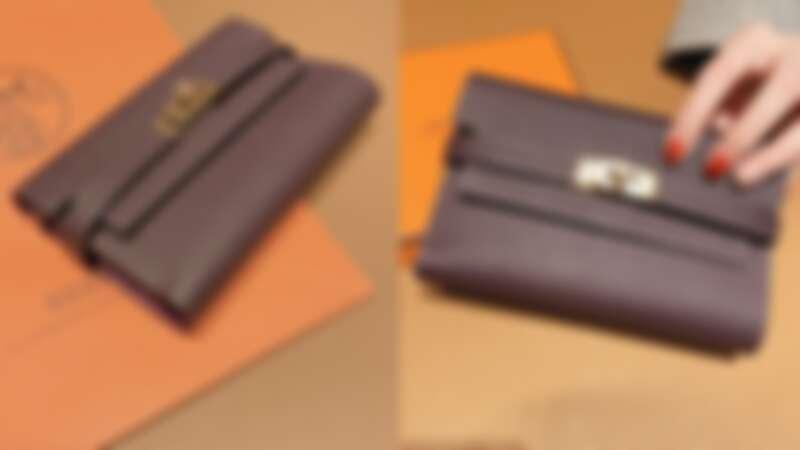 Hermès Kelly系列雙色小牛皮短夾,NT121,800