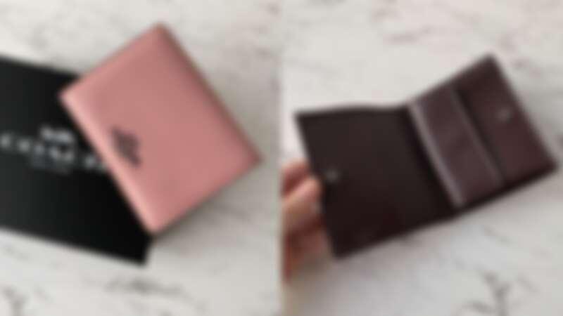 COACH 粉嫩撞色皮夾,NT5,900