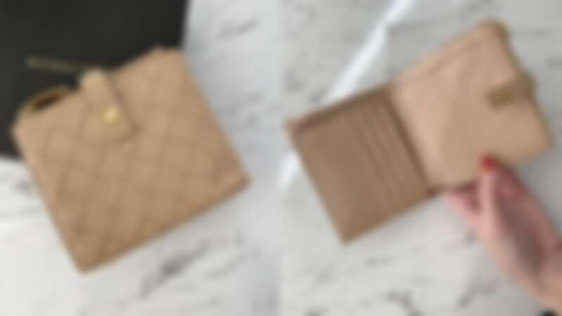 BOTTEGA VENETA 裸膚色1.5編織小羊皮短夾,NT20,200