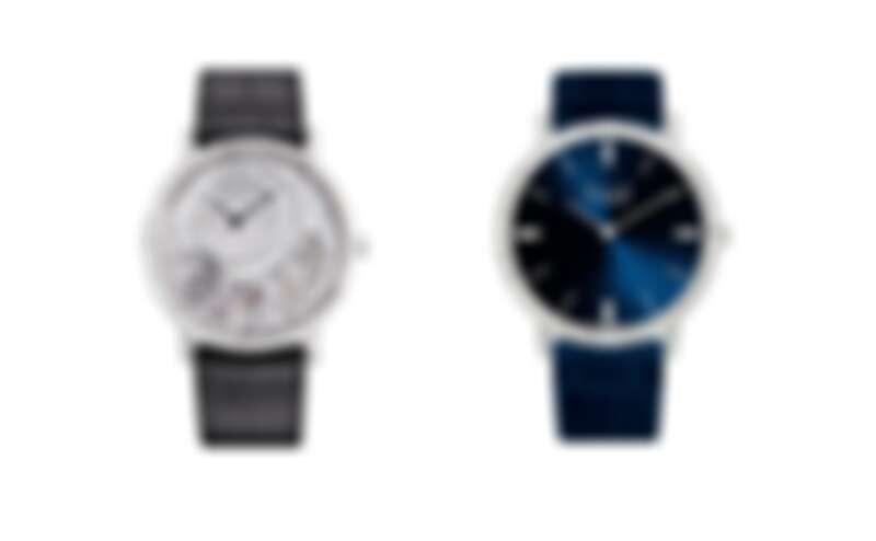 Altiplano Ultimate 900P 18K白金超薄手動上鍊高級珠寶鑽石腕錶、Altiplano系列18K白金超薄自動上鍊鑽石腕錶(41毫米版)。
