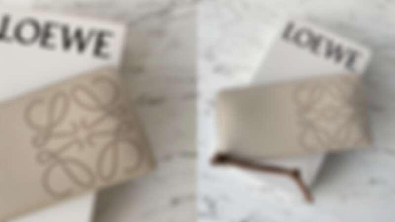 LOEWE Brand白色小牛皮拉鍊長夾,NT30,000