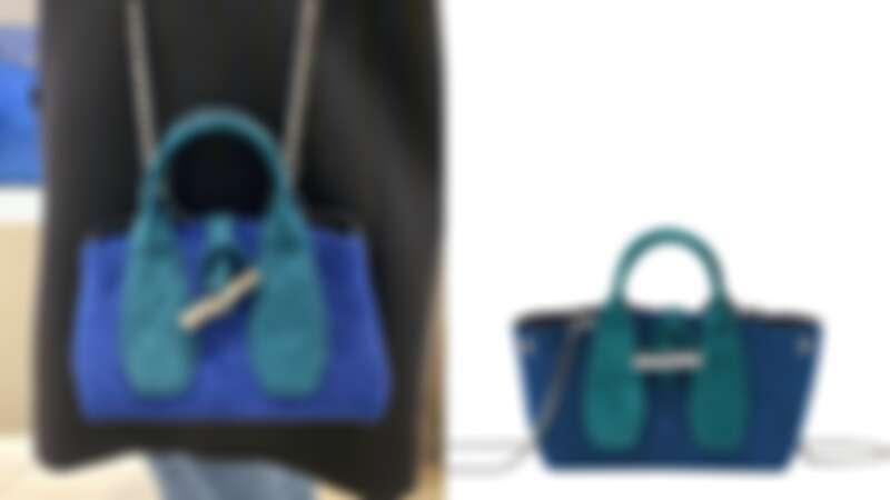 13.LONGCHAMP ROSEAU VELOURS系列手提包,NT17,000
