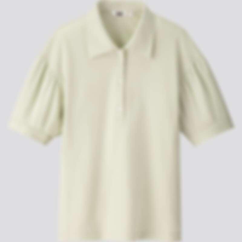 女裝抓皺袖POLO衫(NT$990)