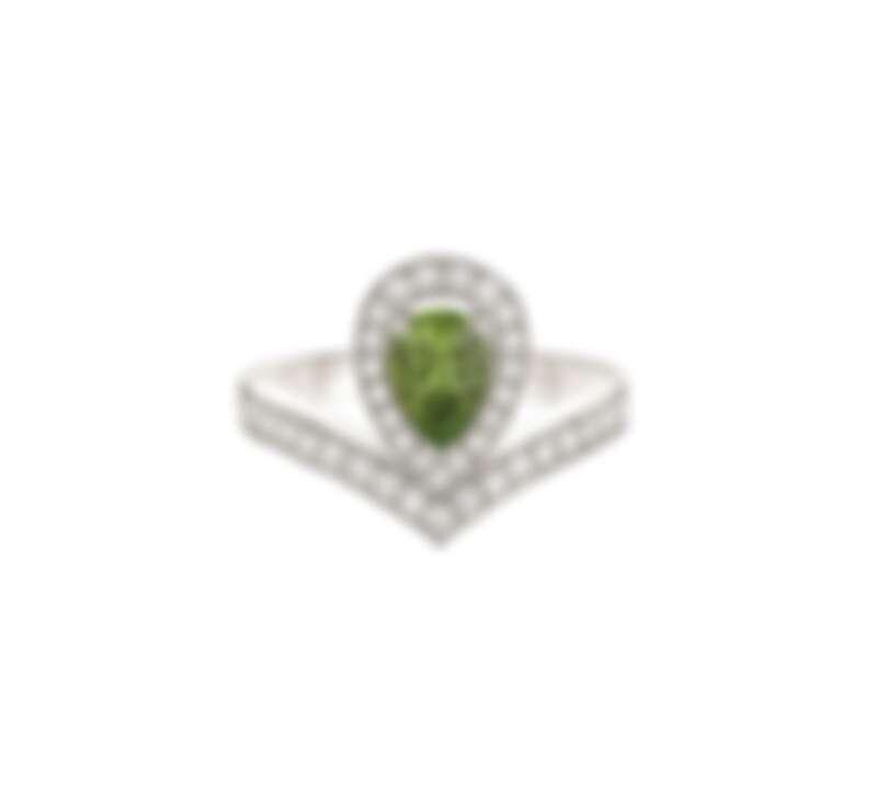 Joséphine Aigrette 18K白金橄欖石戒指