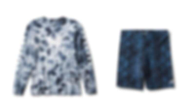 潑墨T恤,定價NT1,980、蛇紋短褲,定價NT1,480