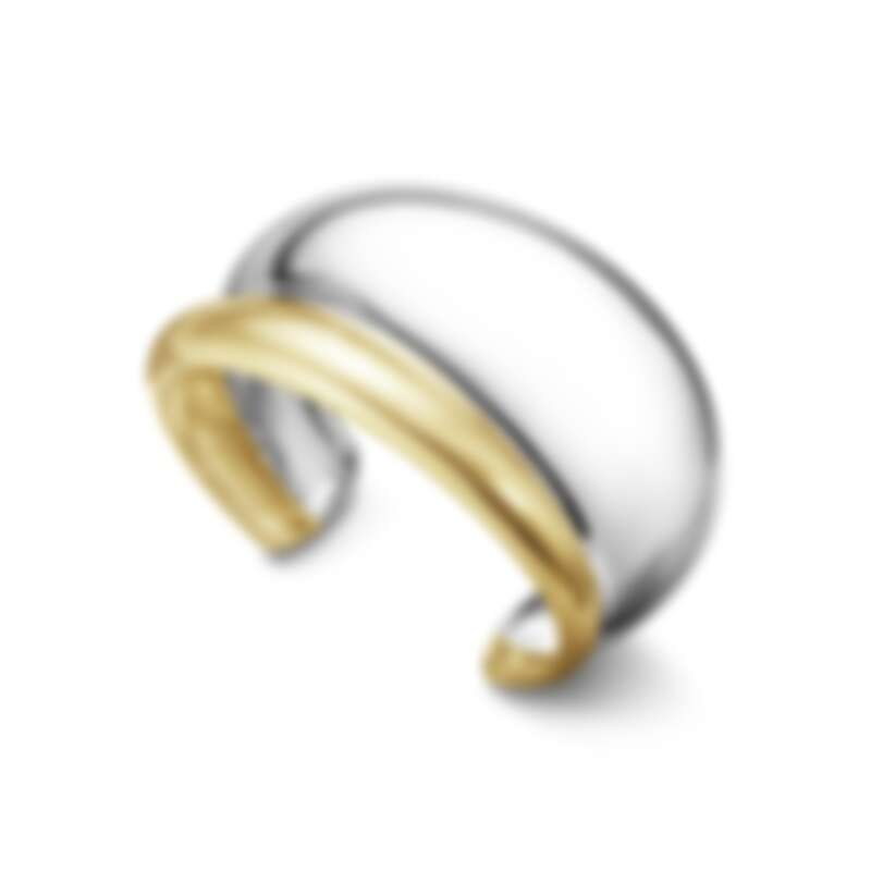 CURVE 系列18K金純銀雙色手環,建議售價 NT160,000