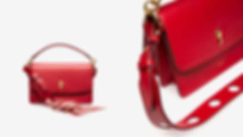 Bally Celestine 紅色小牛皮斜背包,NT48,580