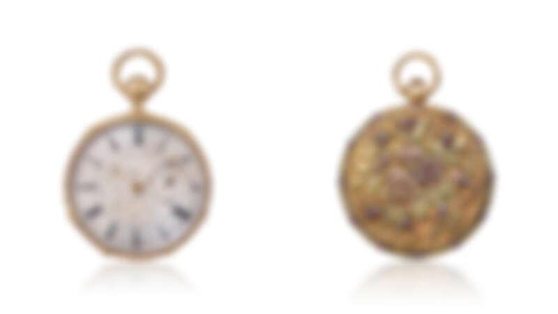 黃金懷錶,1815年 / 鑲嵌紅寶石的Surprise白金懷錶,1929年