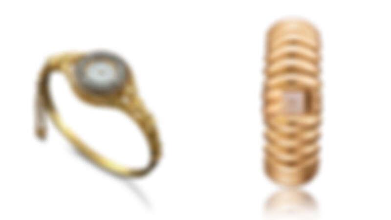 雙翼女神浮雕紋飾腕錶,1889年 / 18K黃金腕錶,1946年