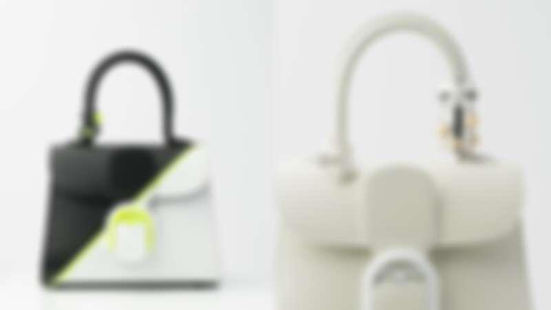 Brillant系列光亮白提把裝飾牛皮小型肩背手提包(NT$197,600)