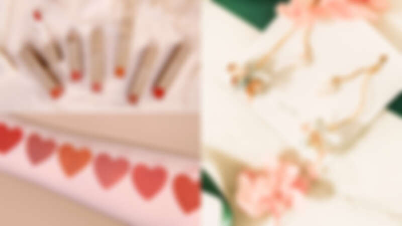 (左圖)誠品生活南西|BEVY C.|經典微醺柔霧光唇釉;(右圖)誠品生活南西|Febbi|花之獻禮珍珠耳環綻放。