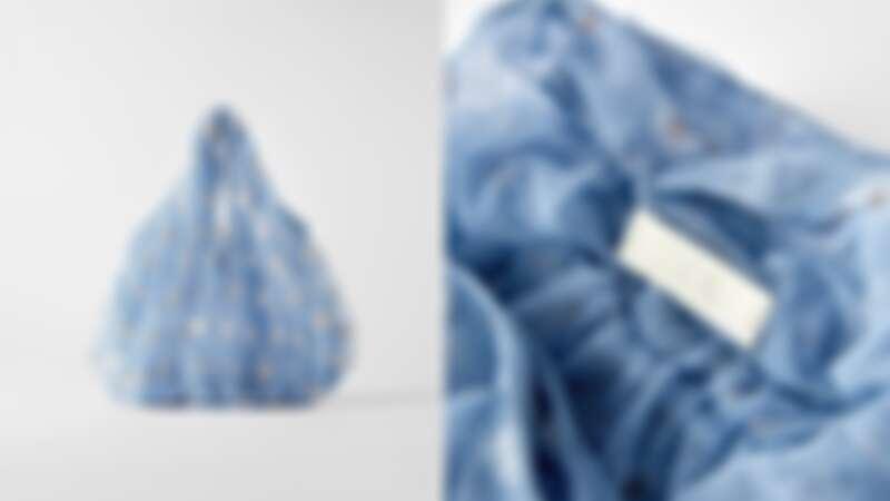 刺繡網紗水桶包(NT$990)