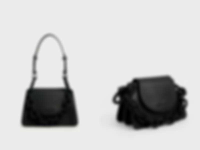 黑色粗鍊小型肩背包(NT$2,790)