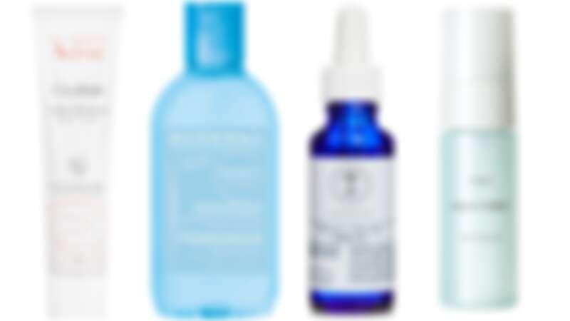 Avene 再生修護霜,NT700。Bioderma保濕水潤化妝水,NT790。Neal's Yard Remedies 舒敏平衡精華,NT2,500。Orbis 水原力保濕液,NT740。