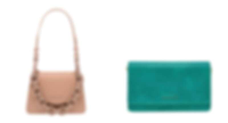 粗練小型肩背包,NT2790、藍綠色鱷魚紋金屬鍊條包,NT2,190