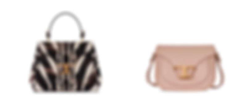 TOD'S TIMELESS BAG斑馬紋提包、TIMELESS BAG粉色斜背包