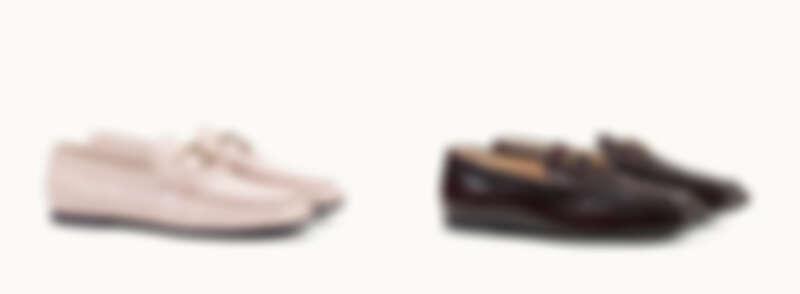 TOD'S TIMELESS鱷魚壓紋樂福鞋、TOD'S TIMELESS酒紅色樂福鞋