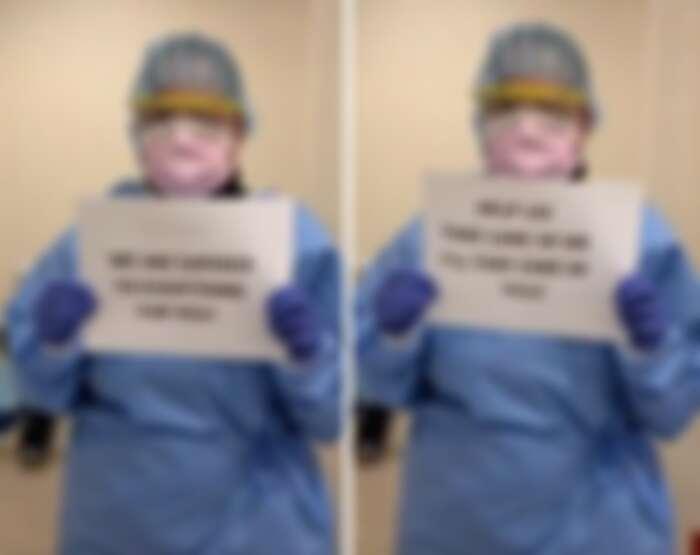 美國醫護向民眾求助防護設備。