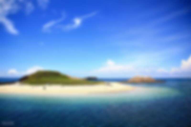 澎湖無人島由潔白細膩貝殼砂組成。