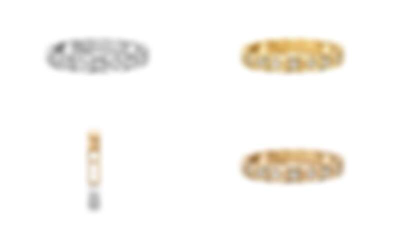 耳扣更是首次結合18K白金與 BEIGE米色金鑲嵌鑽石,宣示出珠寶當代摩登精神及細膩質感。