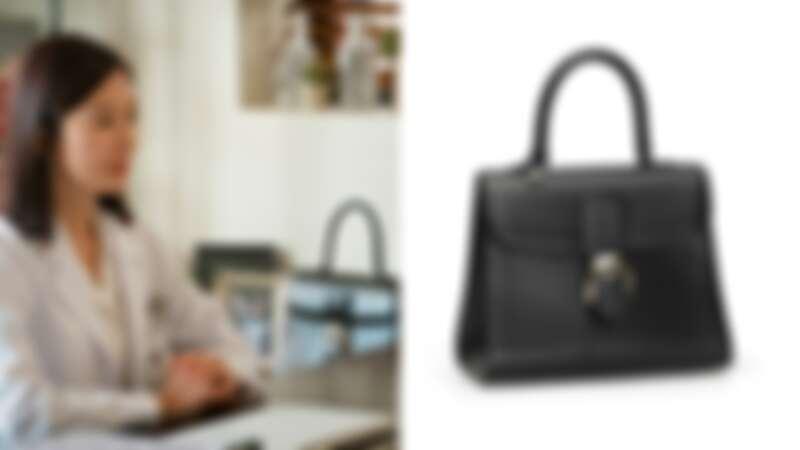 Delvaux Brillant系列黑色牛皮中型肩揹手提包(NT$197,600)