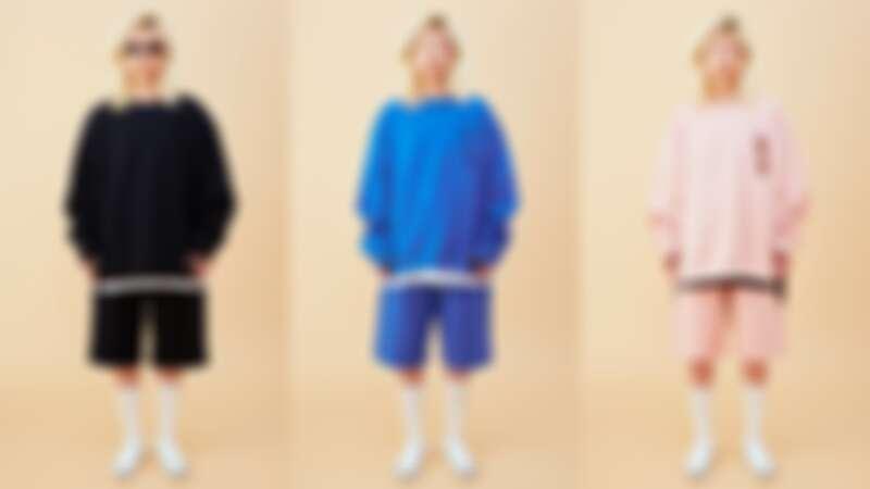 上衣(NT$5,980)、短褲(NT$4,480)