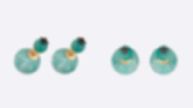 DIOR TRIBALES藍綠色天河石和水晶耳環,約為NT16,850