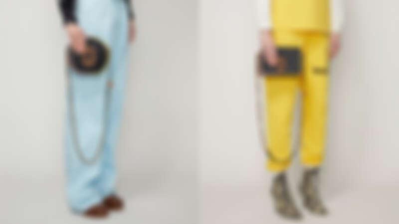 Marc Jacobs 經典黑The Status復古格紋小圓包(撞色緄邊款),NT21,900、 經典黑The Status復古格紋翻蓋方包(撞色緄邊款),NT25,900。