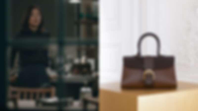 Delvaux Brillant系列:煙灰色寬版漸層牛皮肩揹手提包(NT$168,100)